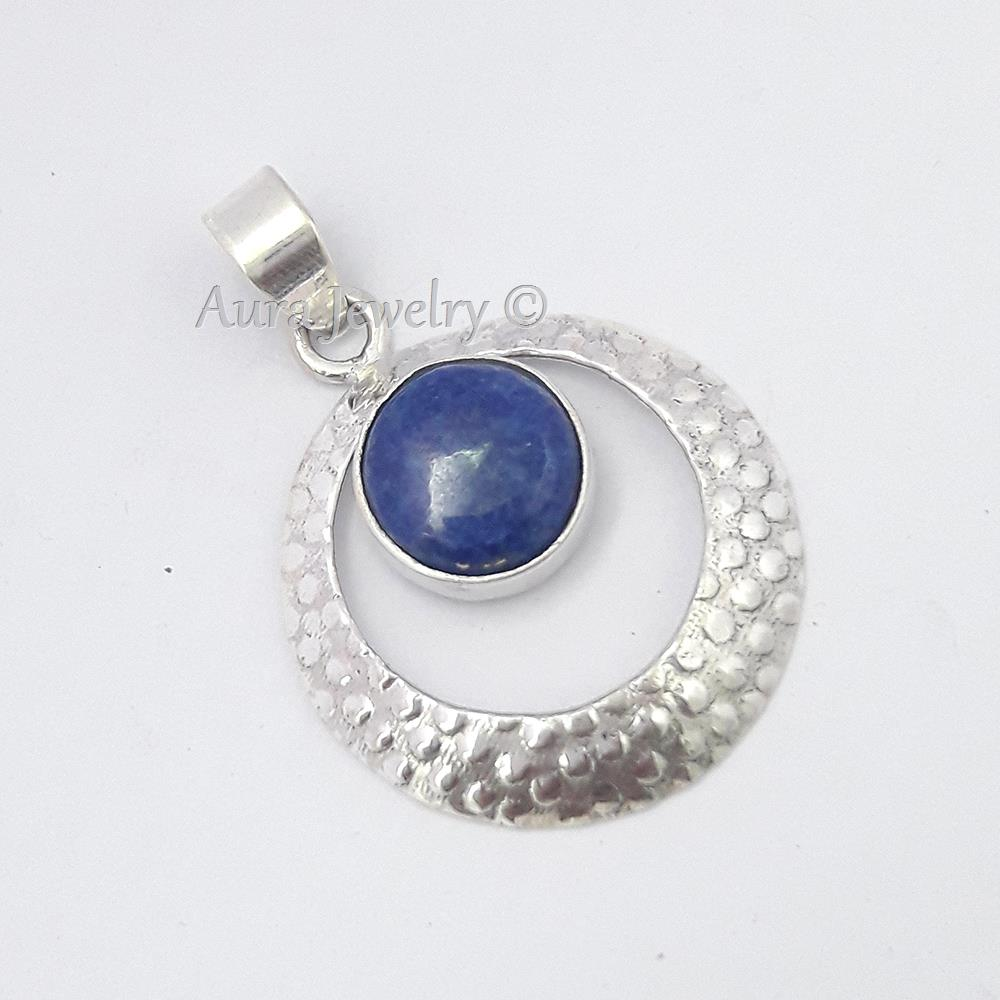 Natural-Blue-Sapphire-Gemstone-Pendant-925-Sterling-Solid-Silver-Jewelry-S-1-75-034
