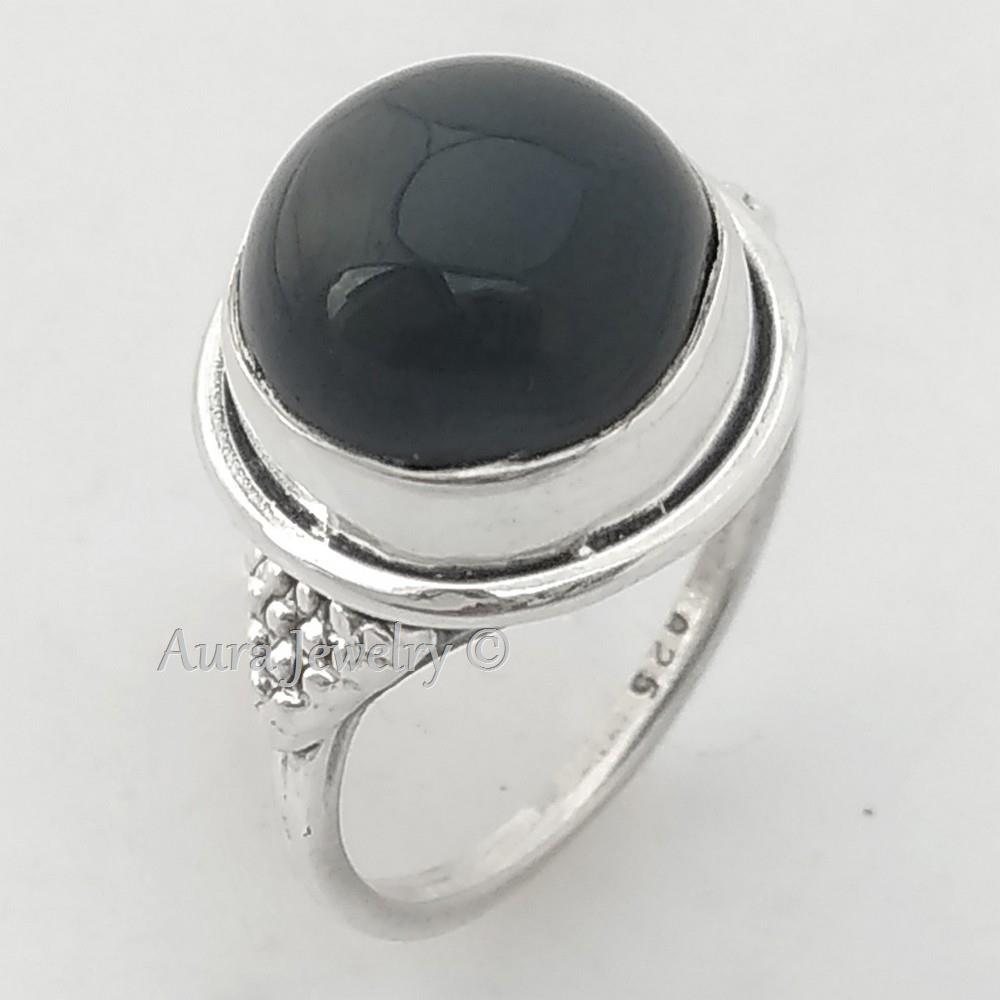 925-Sterling-Silver-Handmade-Jewelry-Ring-Black-Onyx-Ring-ANY-SIZE-4-TO-10