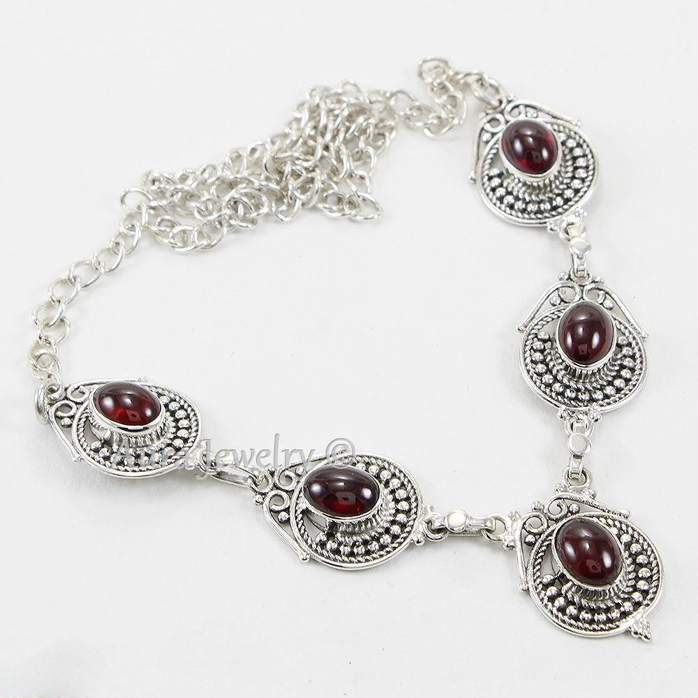 Garnet-Solid-925-Sterling-Silver-Pendant-Necklace